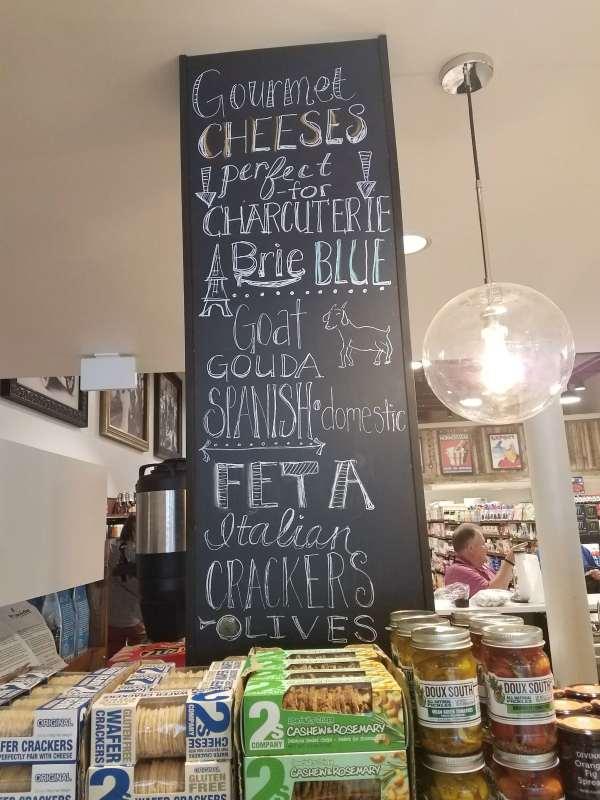 Harvest Market downtown has so many tasty cheeses.