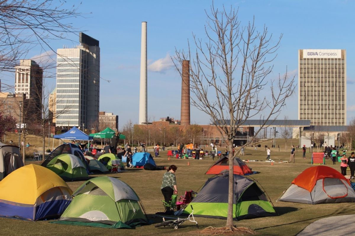 "Don't miss ""Family Camp-Out Night at Railroad Park"" this summer, reserve your spot on Monday, May 13"