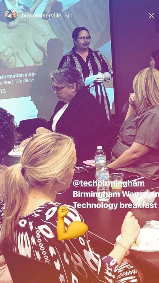 Tech Birmingham's Birmingham Women in Technology Breakfast is part of Birmingham's robust tech infrastructure.