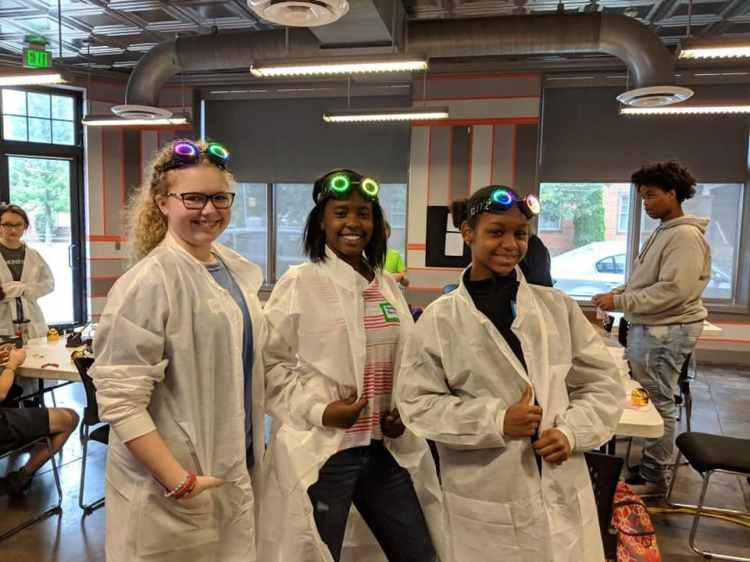 Young women can have fun and make friends while learning tech.