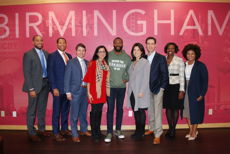 Mayor Randall Woodfin of Birmingham, Alabama. Stood with Community Catalyst Fellows.