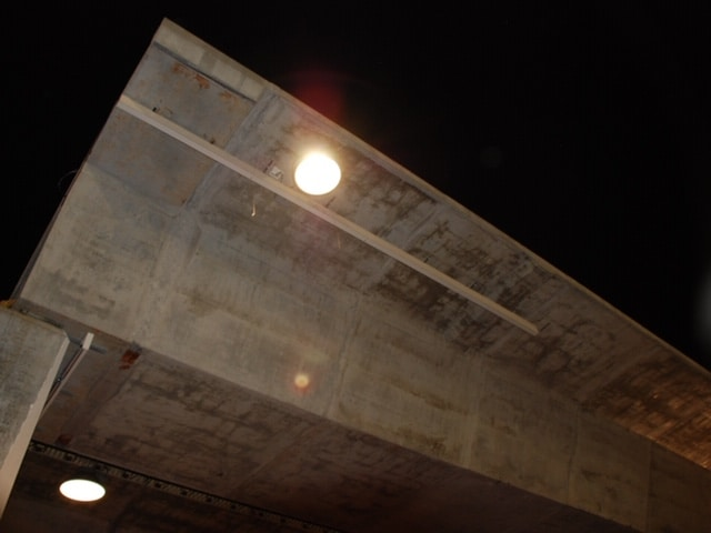 LED lights mounted under the 59/20 bridge.