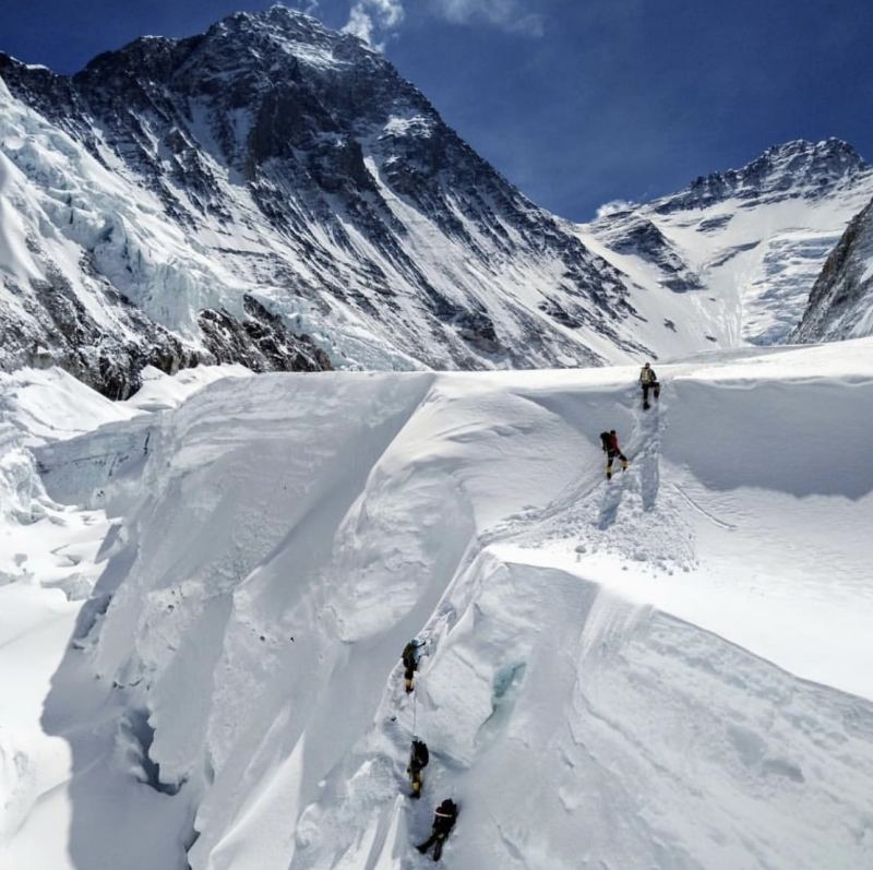 Climbing on Everest is not for beginners.