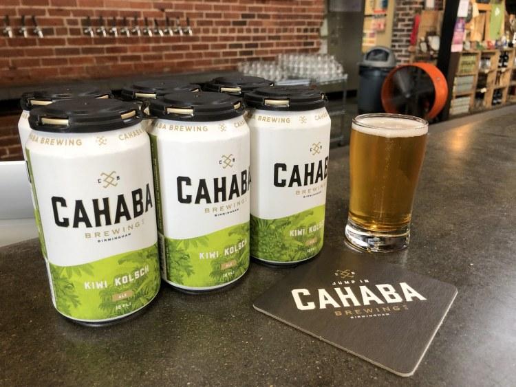 Kiwi Kolsh, a summer seasonal light beer made at Cahaba Brewing, Birmingham, AL.