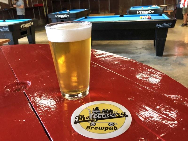 Clean Up on Heffe, a crisp light summer ale made by The Grocery Brewpub in Homewood, Birmingham, AL.