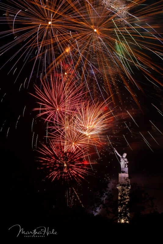 Photo contest for July 4 Fireworks at Vulcan Park and Museum. Birmingham, Alabama.