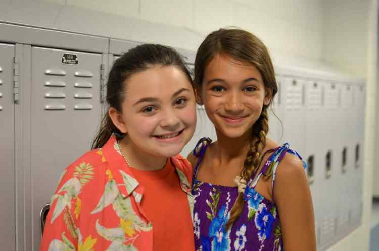 Ramsey Whitney and Emma Sonnichsen discussing Red Mountain Theatre Company's Matilda The Musical