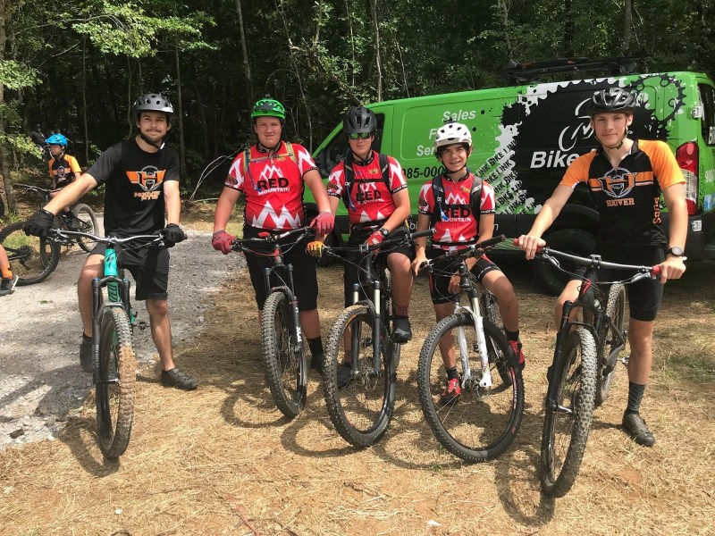 Mountain Bikers at Black Creek Mountain Bike Park Hoover Al
