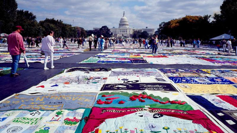 A showing of The AIDS Memorial Quilt at Woodlawn UMC is one of the events in Woodlawn.