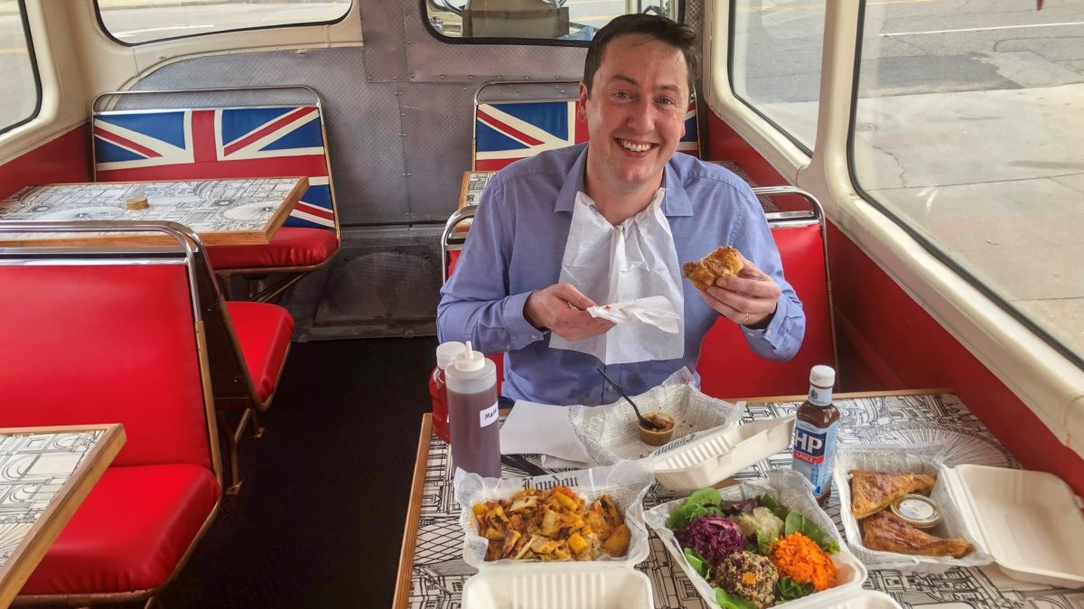 A little taste of home as I try out Little London Kitchen's British street food on their red double decker bus, 'The Duchess'.  PHOTOS!