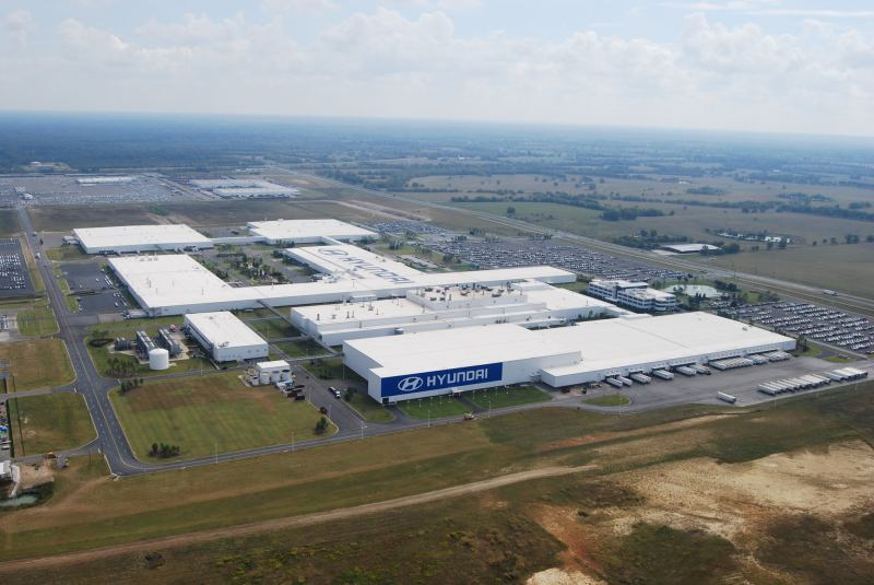 Hyundai Motor Manufacturing Alabama's factory tour is about an hour and a half South of Birmingham.