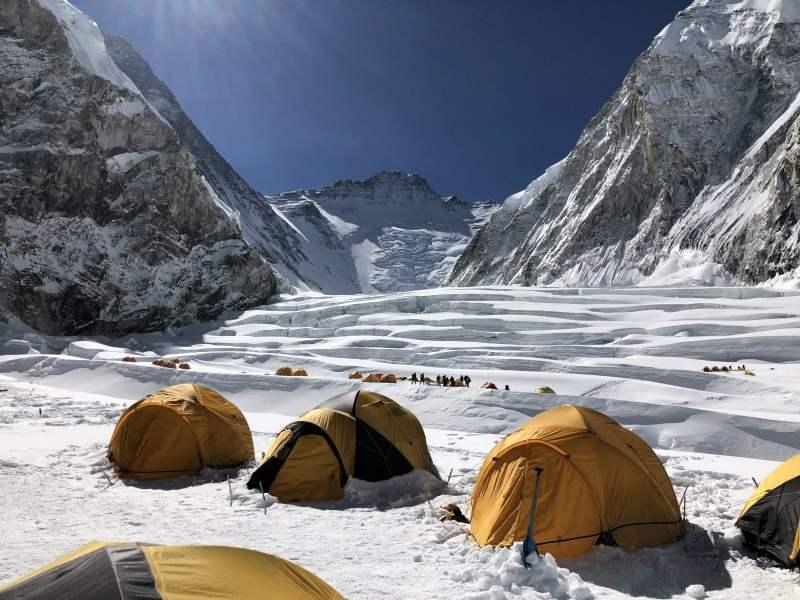 Kent Stewart-a view of Everest Camp I.