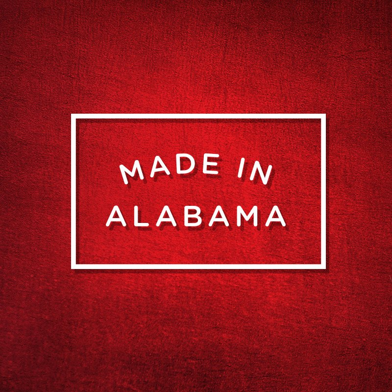 Made in Alabama is the logo of the Alabama Department of Comerce.