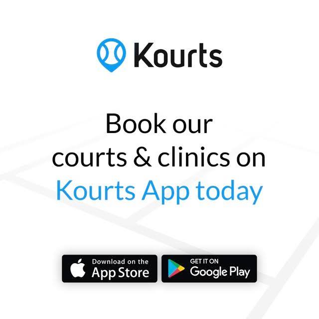 Anyone can play tennis at George Ward via the Kourts app.