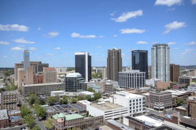 Birmingham Alabama skyline from TJ Tower