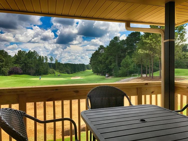 A view from the new clubhouse at Horse Creek Golf Course, Dora, AL.