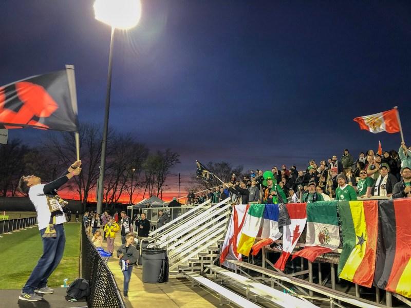 Magic City Brigade soccer fans cheer on Birmingham Legion FC