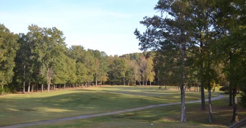 A fairway at Oak Mountain State Park Golf, AL.