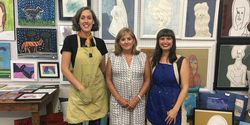 Here are three women behind Studio the the Tracks' new Studio Store in Irondale.