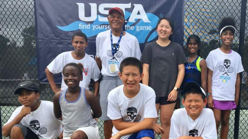 The James Lewis Tennis Scholarship, Inc. 12 and Under intermediate team that plays at George Ward Park just won the Auburn State Championship.