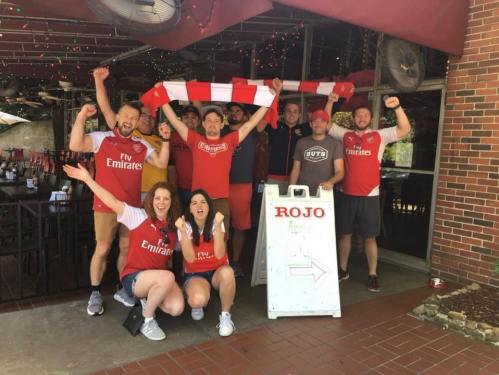 Arsenal supporters watching Soccer at Rojo Birmingham, AL