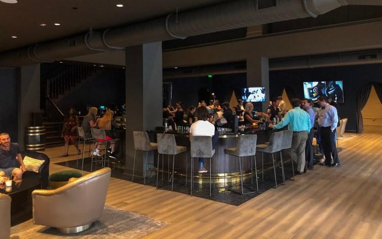 People sat in bar