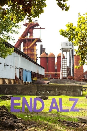Sloss Furnaces and END ALZ signage