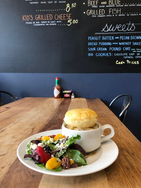 Pie and Salad at Homewood Gourmet