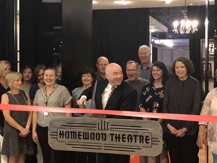 Ribbon cutting at new Homewood Theatre