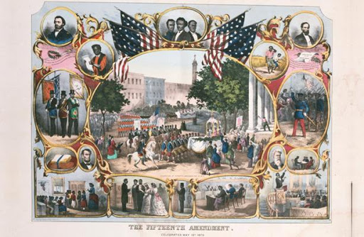 Celebrating the Fifteenth Amendment which guaranteed African American men the right to vote