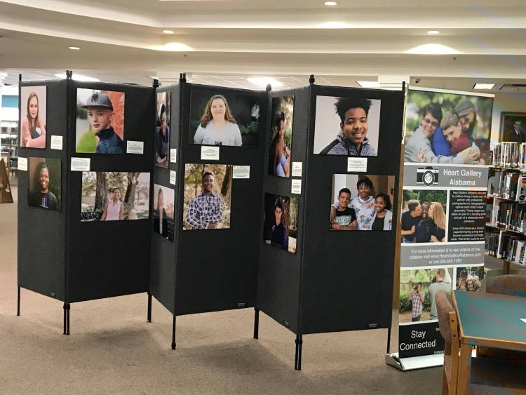 Heart Gallery Alabama has a traveling exhibit with pictures of children waiting for homes.