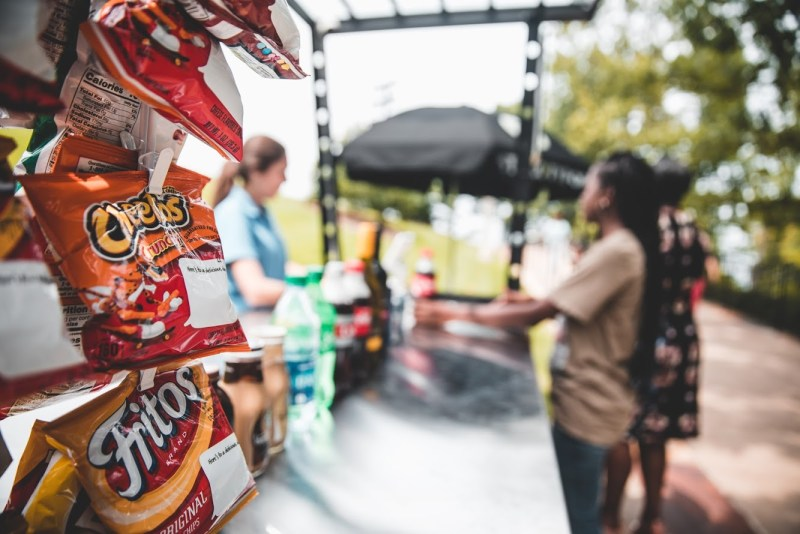 Snacks and drinks at Vulcan Park and Museum. snack and beverage kiosk