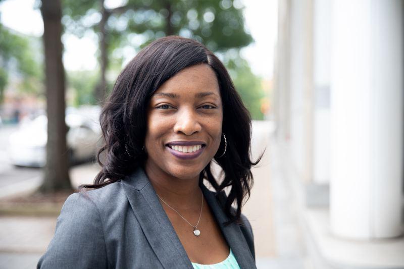 Shardra Scott, Alabama Power's System Operation Manager outside the Birmingham headquarters