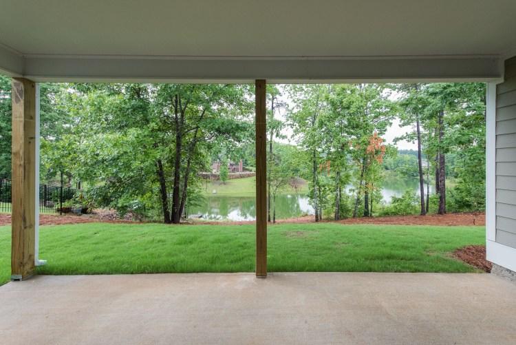 Porch view at Carrington Lakes.