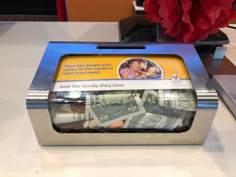 Donate to Day of Change in one of these donation boxes