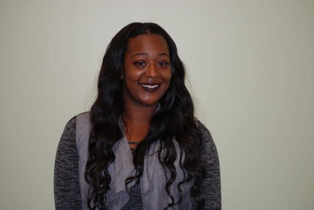 Amanda Johnson is pictured, smiling. She is on of Innovate Birmingham's scholarship recipients.