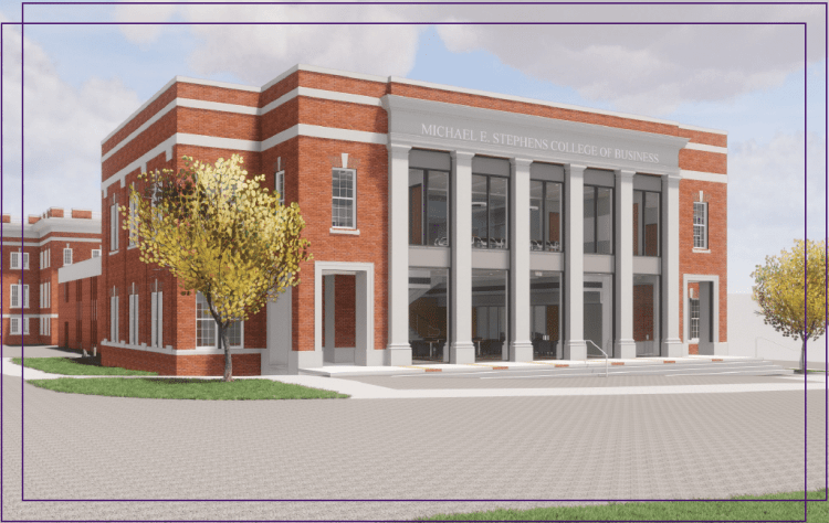 Rendering for the new Stephens College of Business