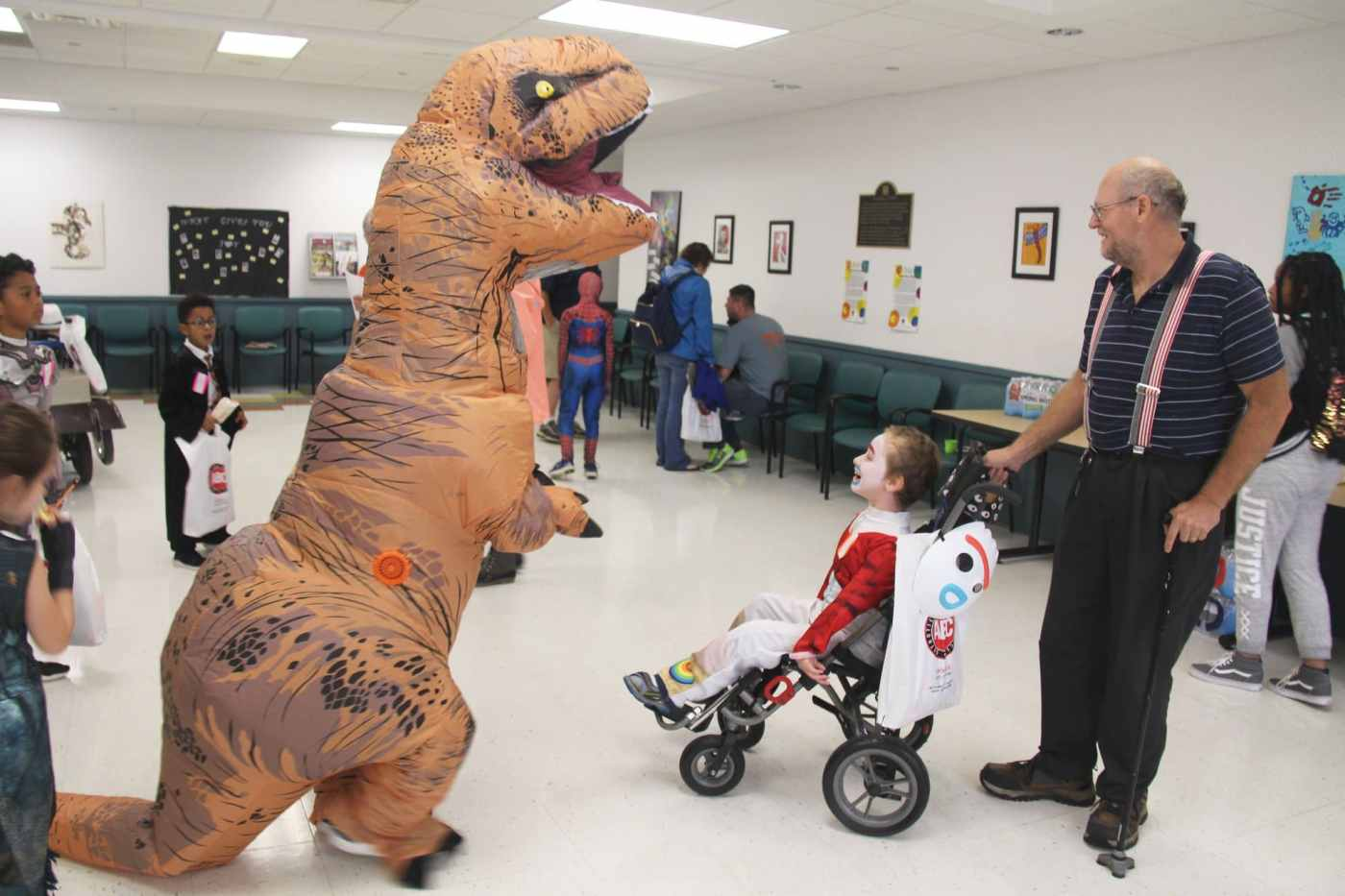 Children and dinosaurs