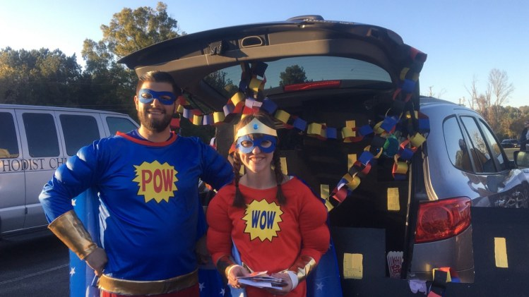 Birmingham, Asbury United Methodist Church, trunk or treat, Halloween, candy
