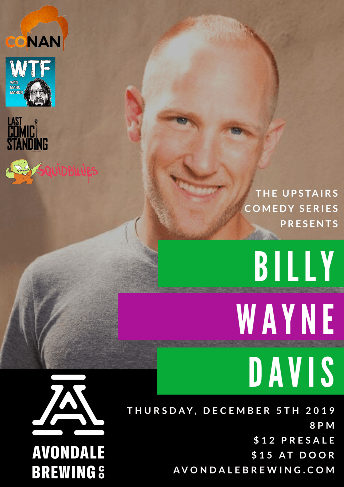 The Upstairs Comedy Series Presents: Billy Wayne Davis