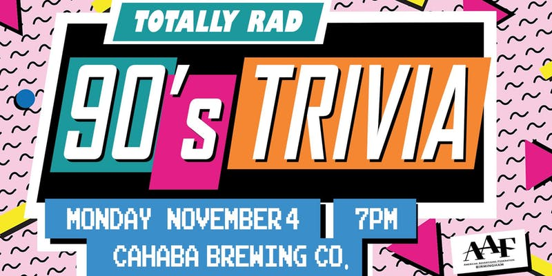 Totally Rad Trivia Night – Hosted by AAF Birmingham