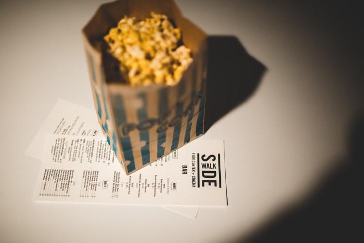 A bag of popcorn.