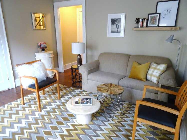 A Birmingham home's living room.