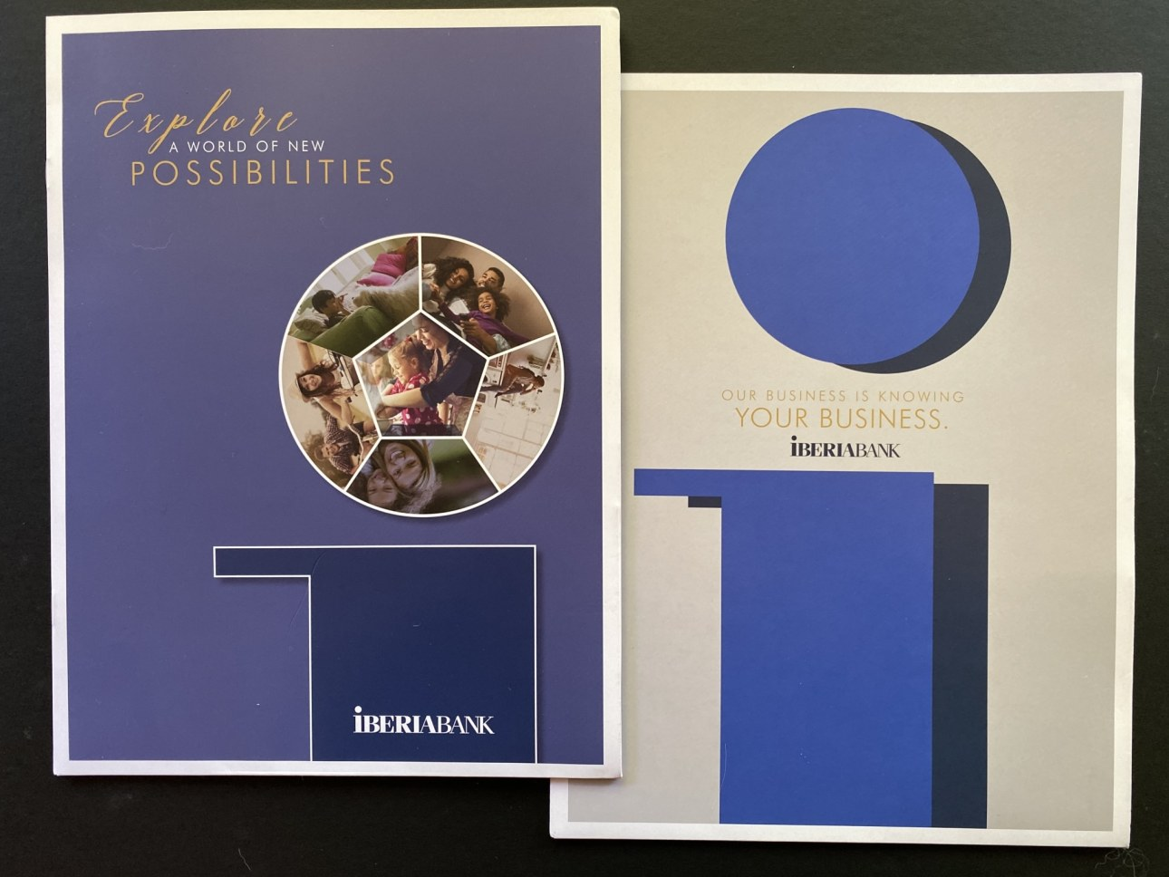 Image of IBERIABANK marketing materials.