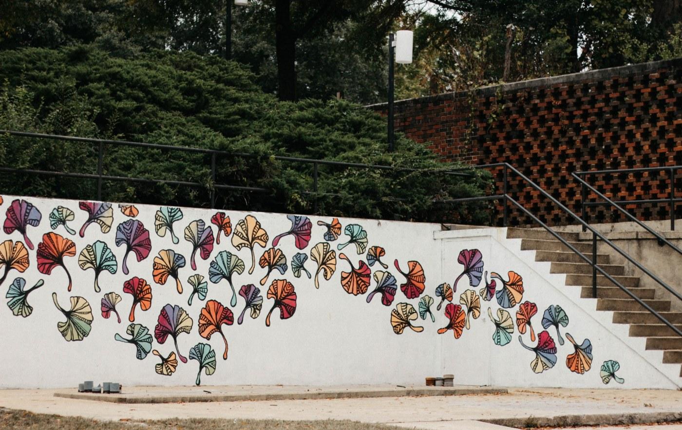 Gingko mural