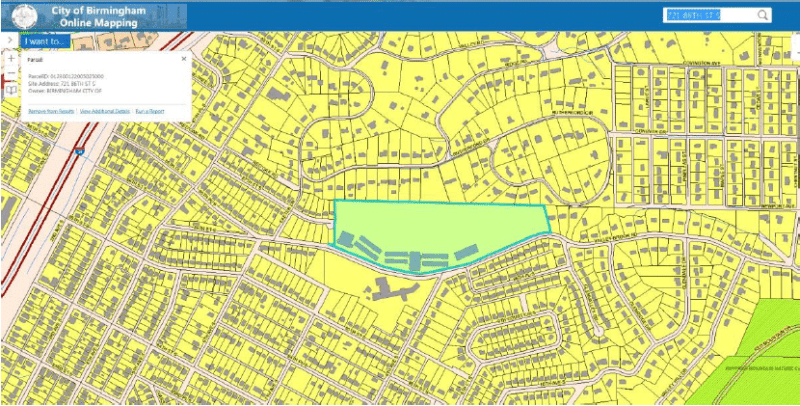 Aerial map of the old Banks School site in South Eastlake