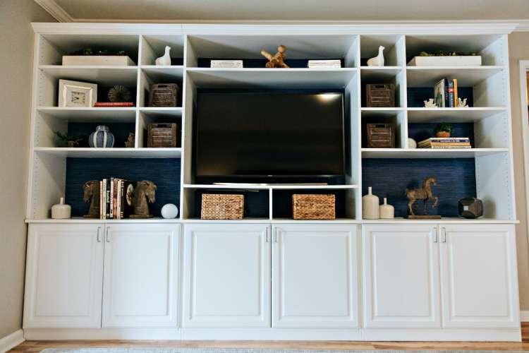 built-in entertainment center by Closets by Design