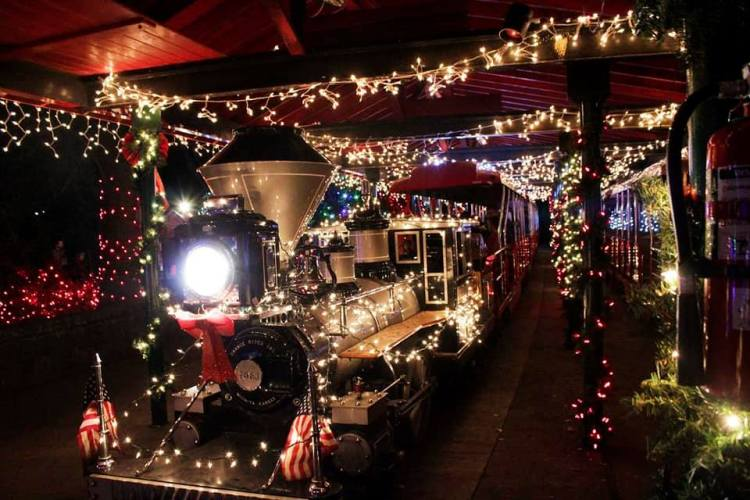Birmingham, Birmingham Zoo, ZooLight Safari, Christmas lights, holiday lights, trains, holiday trains, Candy Cane Train