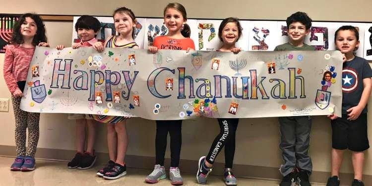 Happy Chanukah, kids at Temple Emanu-el