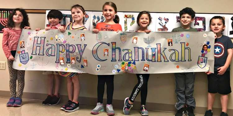 Happy Chanukah, kids at Temple Emanu-el